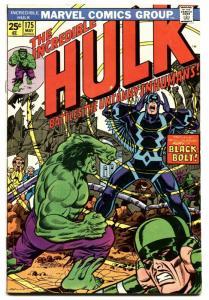INCREDIBLE HULK #175-Black Bolt cover-Marvel 1974