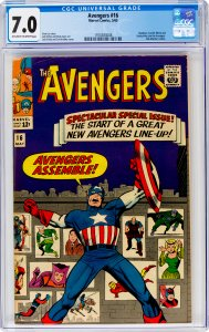 Avengers #16 CGC Graded 7.0 Hawkeye, Scarlet Witch and Quicksilver join the A...
