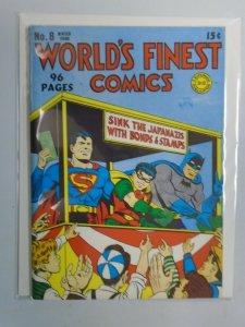 Flashback #38 World's Finest Comics #8 1942 reprint 7.0 FN VF (1976 DynaPubs)