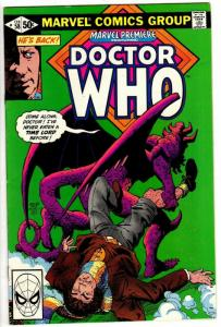 MARVEL PREMIERE  58 F-VF DOCTOR WHO 1981