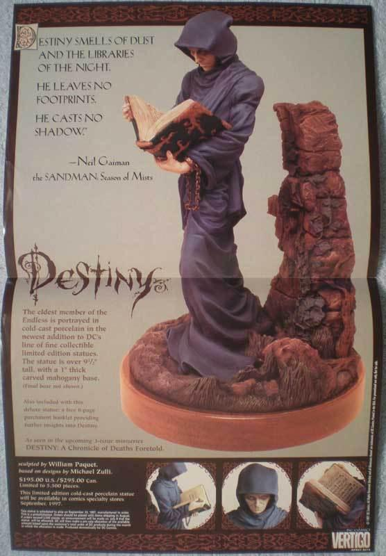 DESTINY STATUE Promo poster, 11x17, 1997, Unused, more in our store