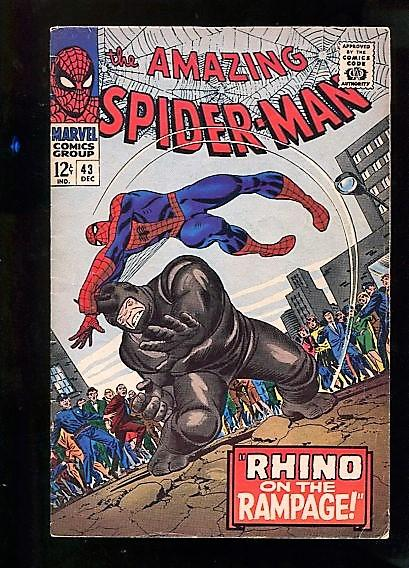AMAZING SPIDER-MAN #43  6.5  (FINE+)  OW/W PAGES VERY NICE EXAMPLE