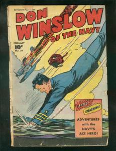 DON WINSLOW OF THE NAVY #54 1948-FAWCETT-P 51 MUSTANG  FR