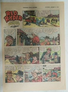 (41) Red Ryder Sunday Pages by Fred Harman from 1961 All Tabloid Page Size!