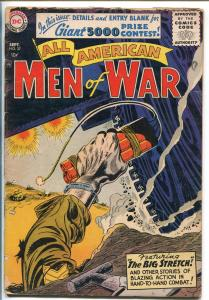 ALL AMERICAN MEN OF WAR #37-1956-WWII-DC-SILVER AGE-TANK-KUBERT-good/vg