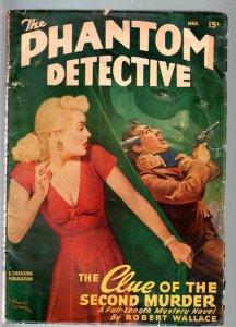 PHANTOM DETECTIVE MARCH 1948-PULP-GOOD GIRL ART-THRILLING-VG VG