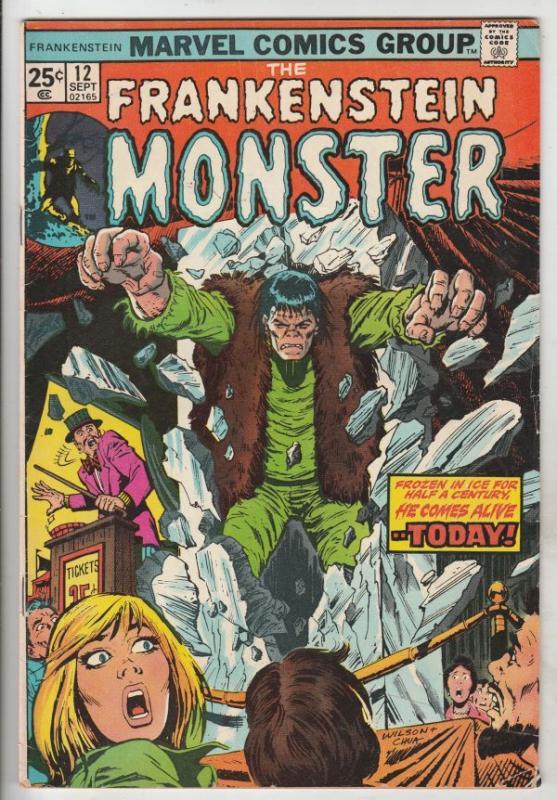 Frankenstein, the Monster of #12 (Sep-74) FN+ Mid-High-Grade Frankenstein