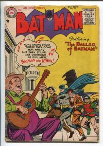 BATMAN #95 1955-DC-THE BALLAD OF BATMAN-vg