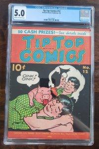 Tip Top Comics 12 CGC 5.0