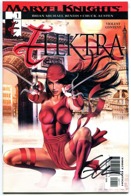 ELEKTRA #1, NM, Signed Greg Horn, Martial Arts, Femme Fatale, 2001,more in store