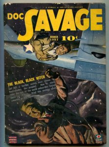 Doc Savage Pulp March 1943- Black Black Witch- FN