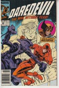 Daredevil(vol. 1)# 248  Enter: Wolverine and 1st Appearance of Bushwacker
