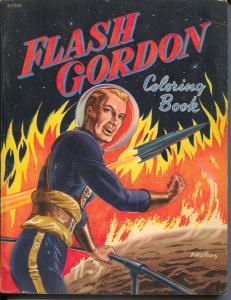 Flash Gordon Coloring Book  #21752 1952-Whitman-Al McWilliams art-G/VG