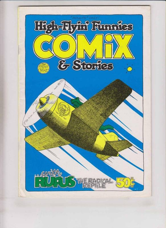 High-Flyin' Funnies Comix & Stories #1 FN (1st) print mint bill crawford 1970