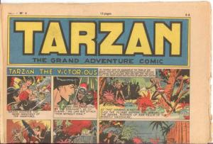 TARZAN GRAND ADVENTURE COMIC  V 1 #4 GOOD 1953?