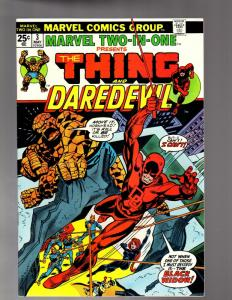 MARVEL TWO IN ONE 3 VERY FINE PLUS  May 1974