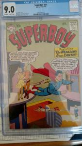 Superboy #81 (Jun 60, DC) CGC 9.0
