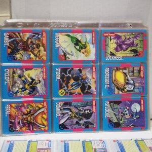 Marvel Xmen Trading Cards 1992 1-100 set plus 2 Holograms