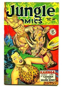 JUNGLE COMICS #109 1949-CELARDO ART-GGA-RHINO ATTACK-VF-