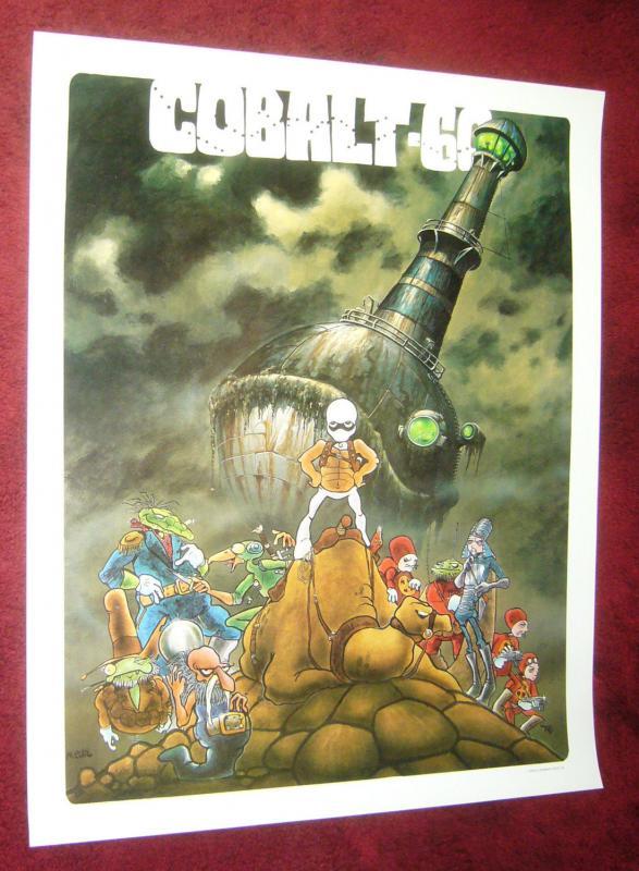 Cobalt 60 poster - 22 x 27 - mark bode - barbara bode 1984 underground comix