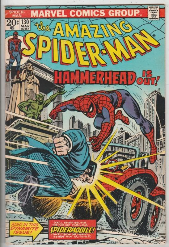 Amazing Spider-Man #130 (Mar-74) FN/VF Mid-High-Grade Spider-Man