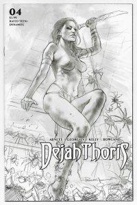 Dejah Thoris #4 Parrillo 1:10 B&W Variant (Dynamite, 2020)