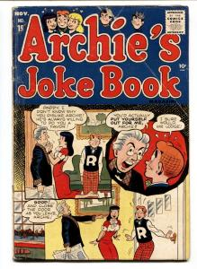 ARCHIE'S JOKE BOOK #19-BETTY AND VERONICA-1955-JUGHEAD  VG