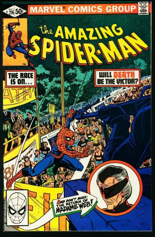 AMAZING SPIDER-MAN #216-1981-MARVEL-very fine VF