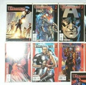 THE ULTIMATES #1-13 Full Run Marvel Comics 2002-04 Mark Miller Bryan Hitch