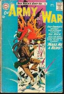 OUR ARMY AT WAR #136-SGT. ROCK-12 CENT-JOE KUBERT ART VG