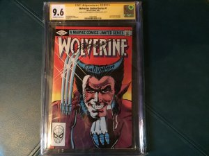 Signed CGC Wolverine Limited Series #1, 2-4 All 9.6!!