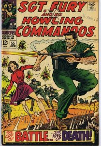 Sgt Fury and His Howling Commandos #55 ORIGINAL Vintage 1968 Marvel Comics