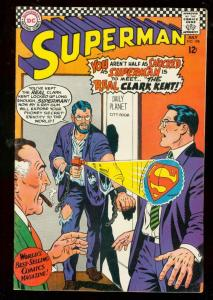 SUPERMAN #198 1967-DC COMICS-GLOSSY COVER-RAY GUN FN