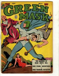 The Green Mask # 11 FN Fox Features Syndicate Comic Book 1942 Dick Transom NE1