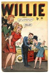 Willie Comics #12 1948- Golden Age Humor- headlight cover