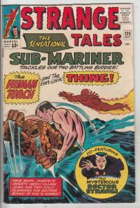 Strange Tales #125 (Oct-64) FN+ Mid-High-Grade Human Torch, the Thing, Doctor...