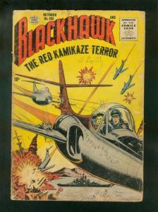 BLACKHAWK COMICS #105 1956-RED KAMIKAZE-BARGAIN COPY-QUALITY COMICS FR/G