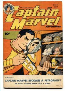 CAPTAIN MARVEL ADVENTURES #73 1947-High Grade copy