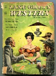 Zane Grey's Western Magazine February 1951- Wolf Tracker P/F