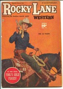 Rocky Lane Western #11 1950-Fawcett- B-Western movie star photo cover-VG+
