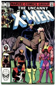 X-MEN #167-marvel comic book high grade nm wolverine