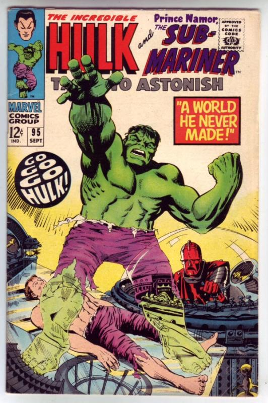Tales to Astonish #95 (Sep-67) FN/VF+ Mid-High-Grade Incredible Hulk, Namor