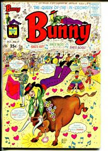 Bunny #17 1970-Harvey-Giant issue-bull fight-fashions-Afro-Americans-VG