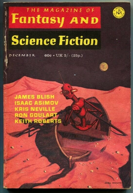 MAGAZINE OF FANTASY AND SCIENCE FICTION-Dec 1970-Science Fiction Pulp Thrills