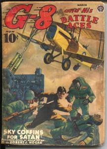 G-8 and His Battle Aces 3/1940-Robert J Hogan story-hero pulp-FR/G