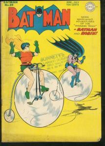 BATMAN #29-BICYCLE CVR-DC COMICS VG