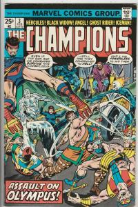 Champions, The #3 (Feb-76) VF/NM High-Grade Ghost Rider, Hercules, Black Wido...