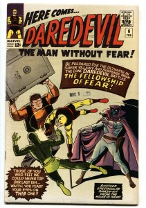 Daredevil #6 comic book 1965-Marvel-Wally Wood-Yellow costume-FN/VF