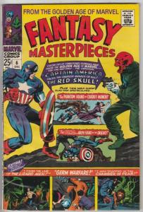 Fantasy Masterpieces #6 (Dec-66) FN/VF Mid-High-Grade Captain America, Bucky ...