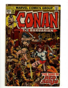 Conan The Barbarian # 24 FN Marvel Comic Book Barry Smith Kull King Sword NP16